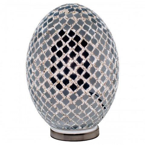 Mirrored Mosaic Egg Lamp (Large)