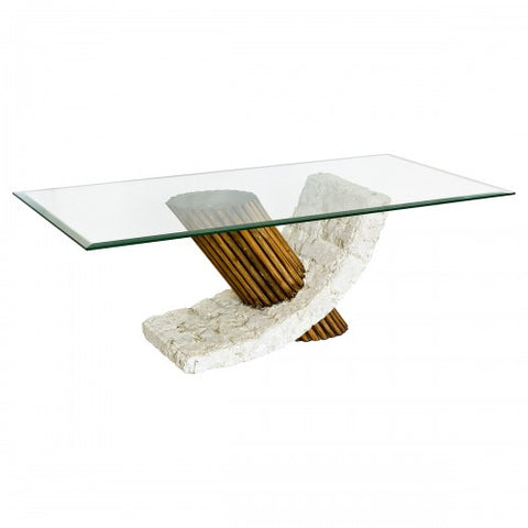 Stone Base Coffee Table.Bamby Mactan Stone Coffee Table