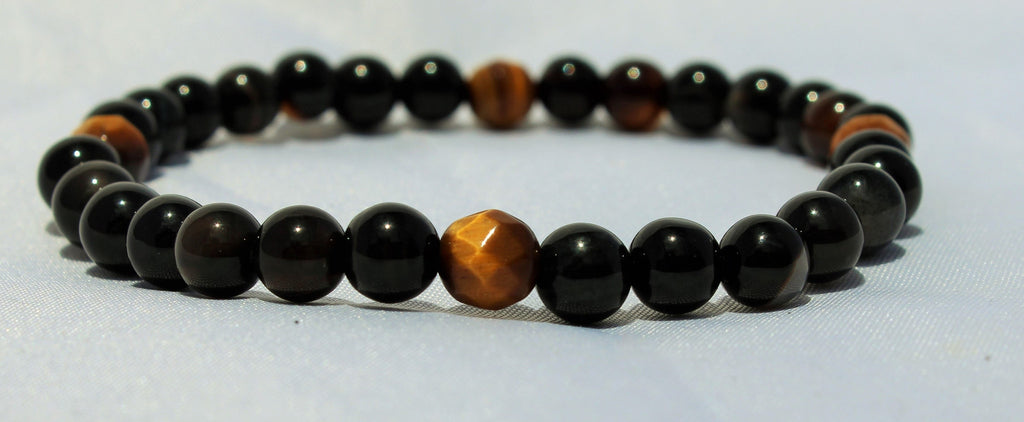 Faceted Tiger Eye x Black Agate