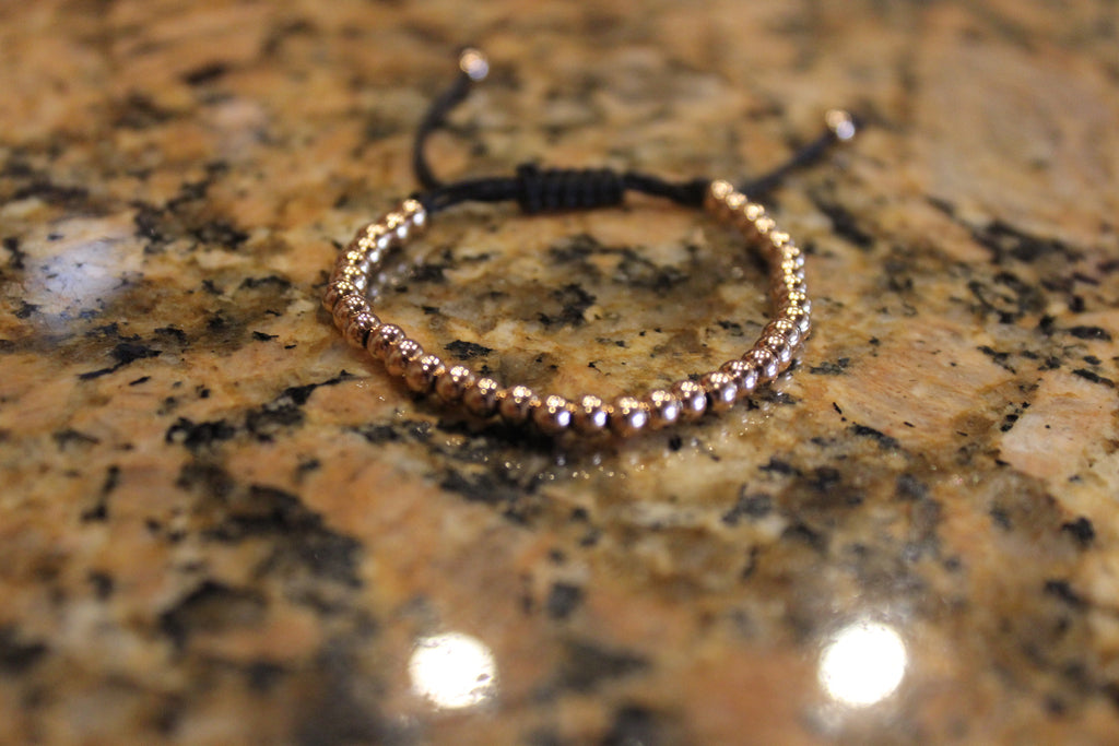 Rose Gold Plated 925 Silver Macrame Bracelet