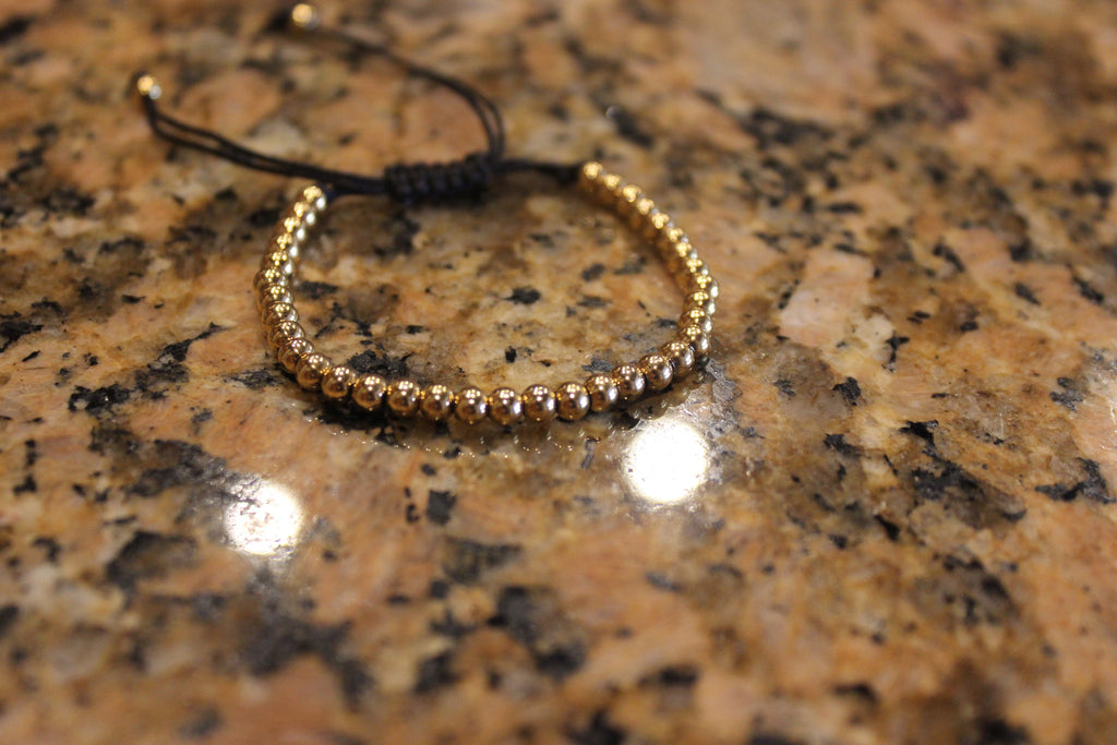 Yellow Gold Plated 925 Silver Macrame Bracelet