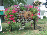 Double Tier Deck Side Planter with Trellis Panel