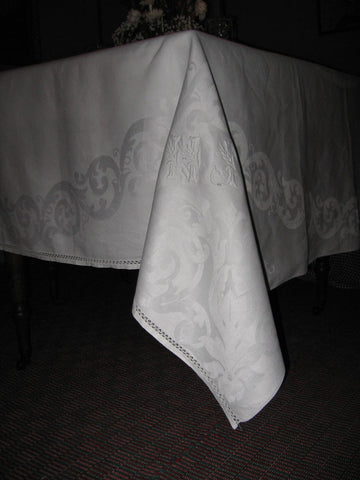 French Linen Double Damask