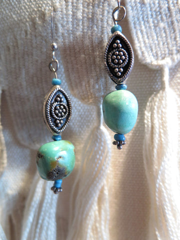 Turquoise, Mother of Pearl, Sterling Silver
