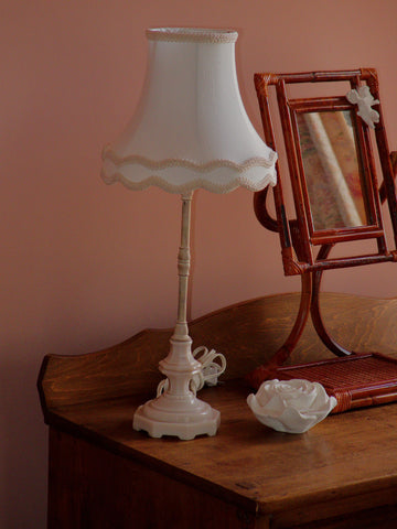 Vintage Pink Glass Accent Lamps