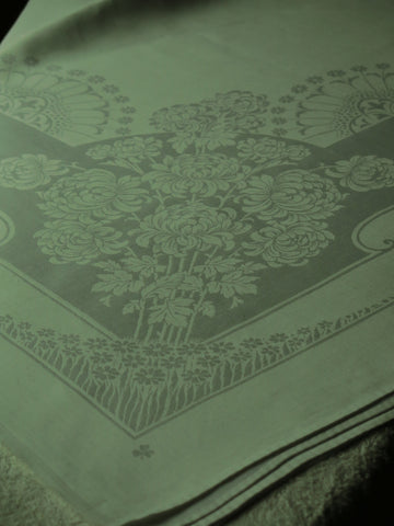 Irish Double Damask with a touch of Clarice Cliff