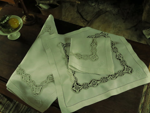 Cutwork in Linen