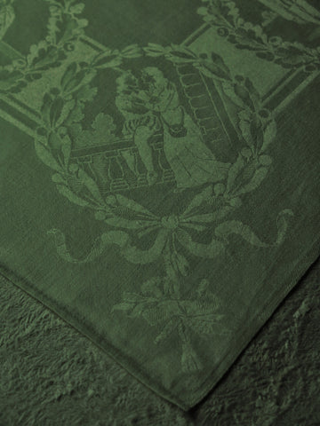 Shakespeare in Double Damask Linen Napkins