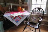 Abstraction Vintage Linen Tablecloth