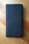 BLACK LEATHER FOLIO case for iPhone 6 Plus