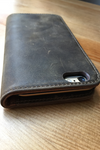 BROWN LEATHER FOLIO case for iPhone 6