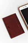 Minimalist Leather Wallet / Cardholder - Wine Red