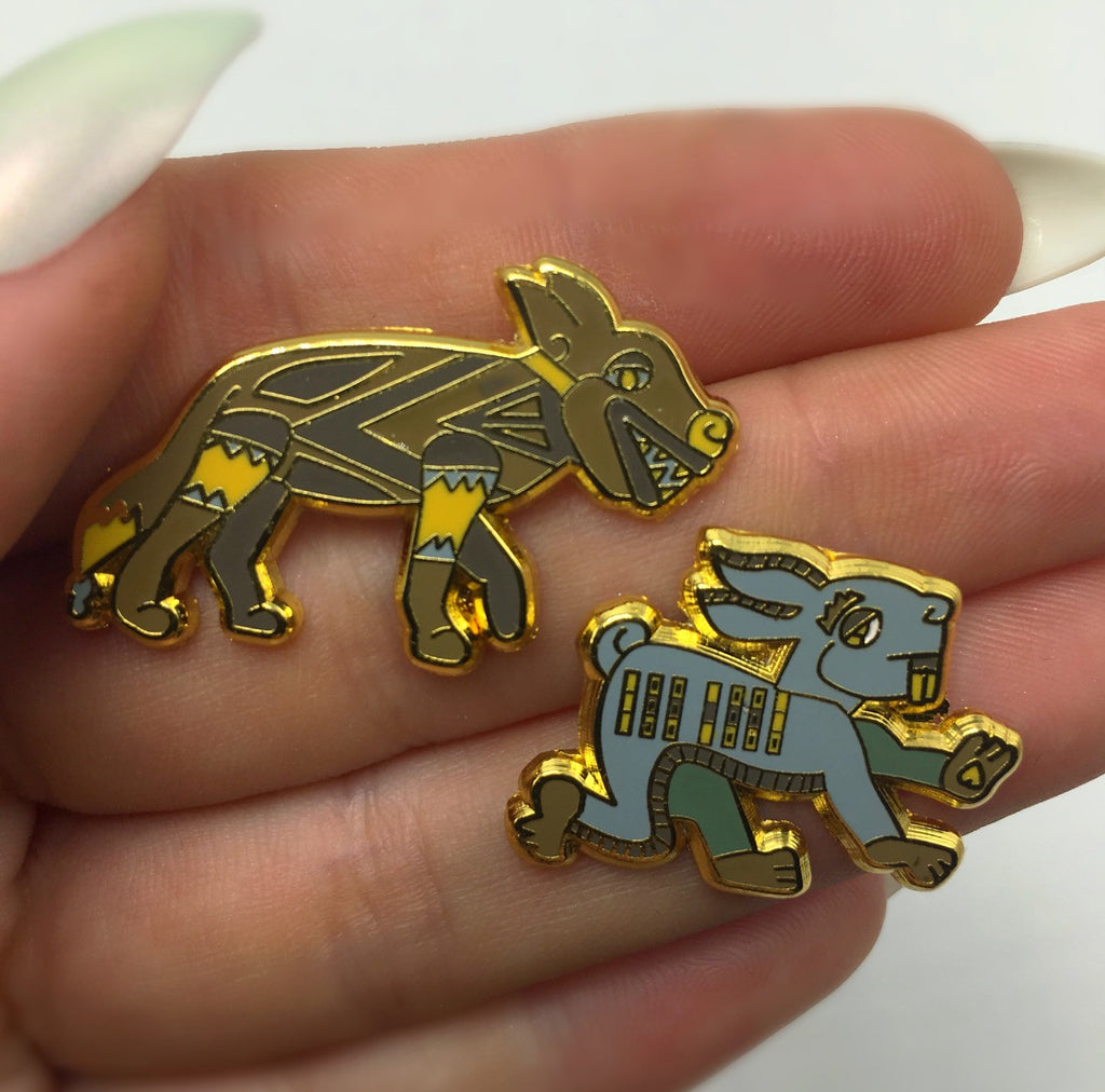 DABZTEC Coyote & Hare Pin Set