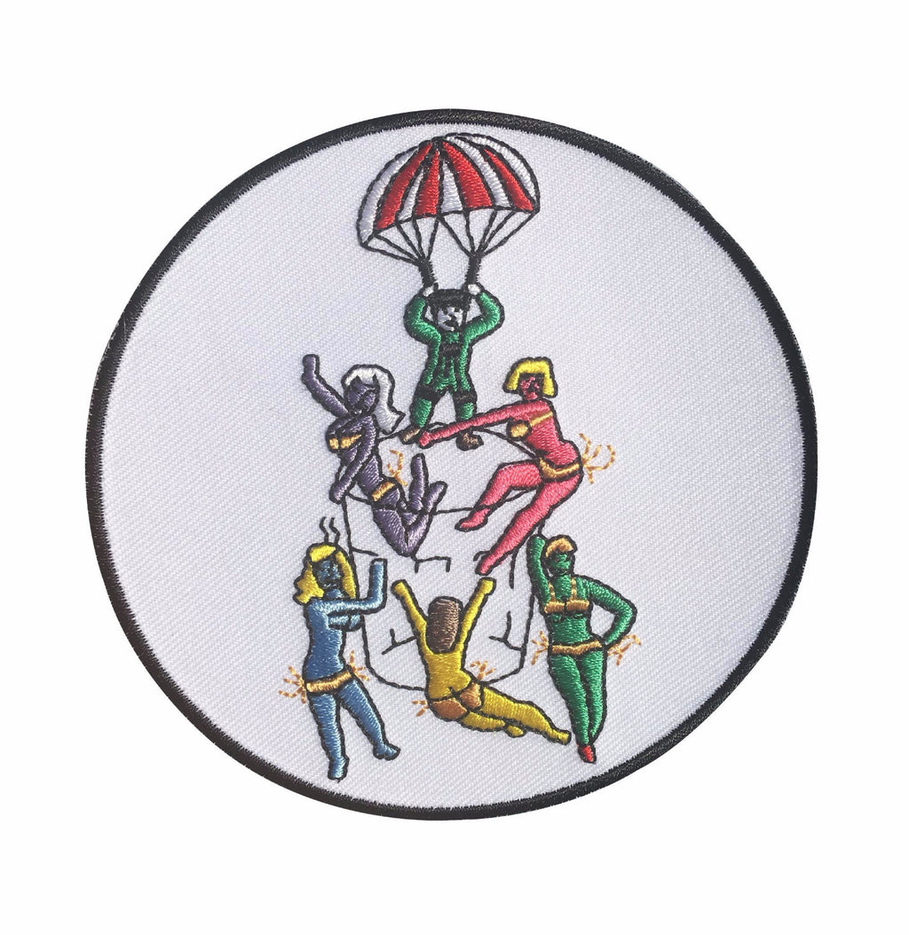 "Golden Parachute ""Jigger"" 4"" Iron-On Patch"