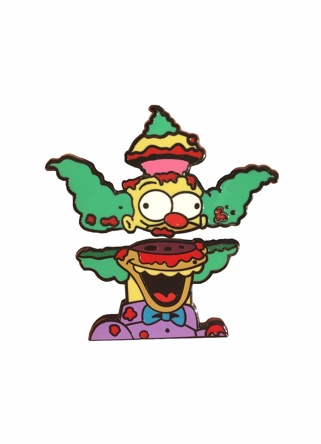 Krusty the Clown Split Head Pin V1