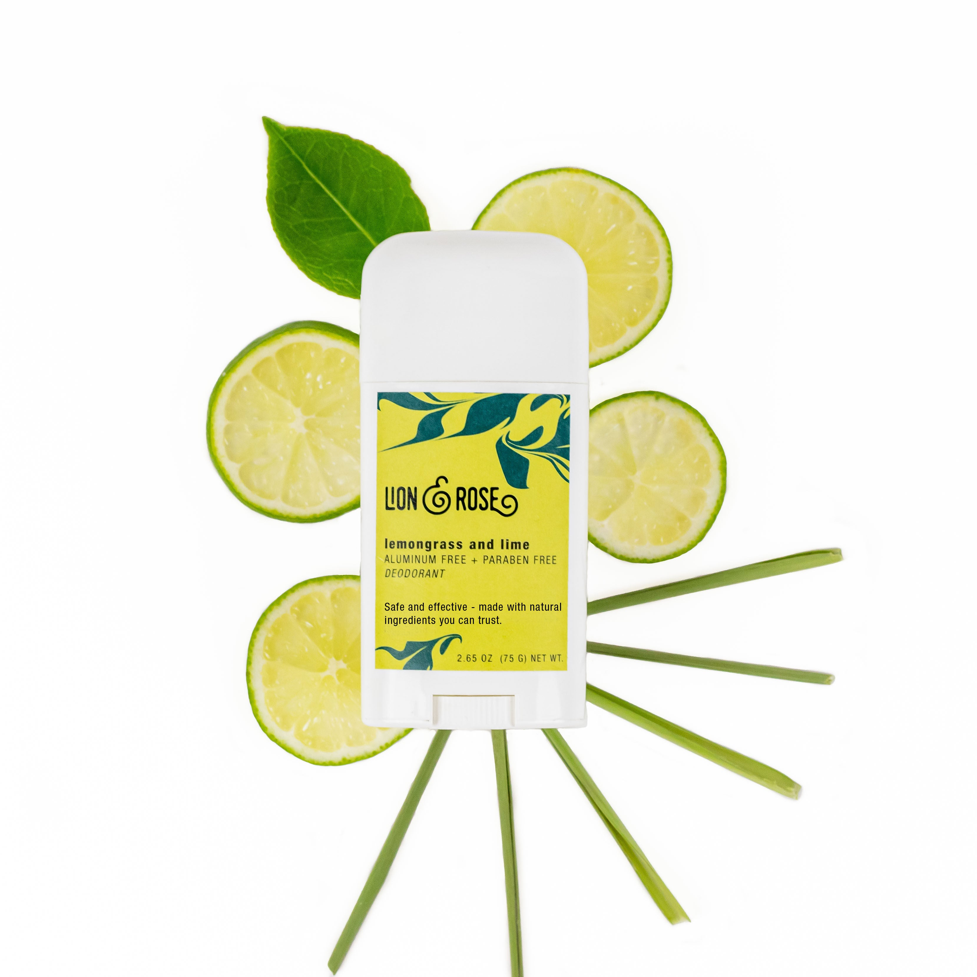 Non-toxic deodorant made with lemongrass and lime
