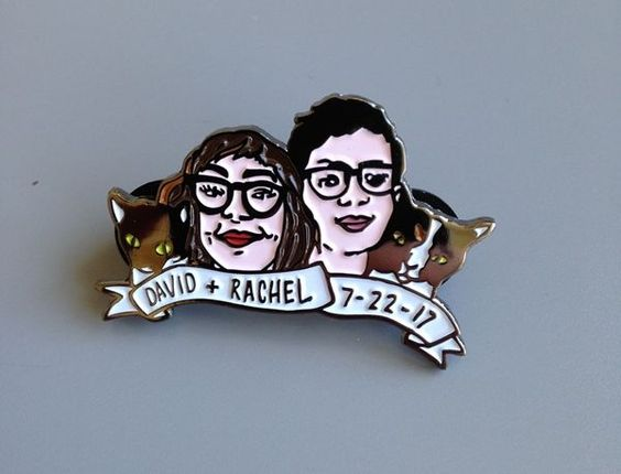 Custom wedding pins