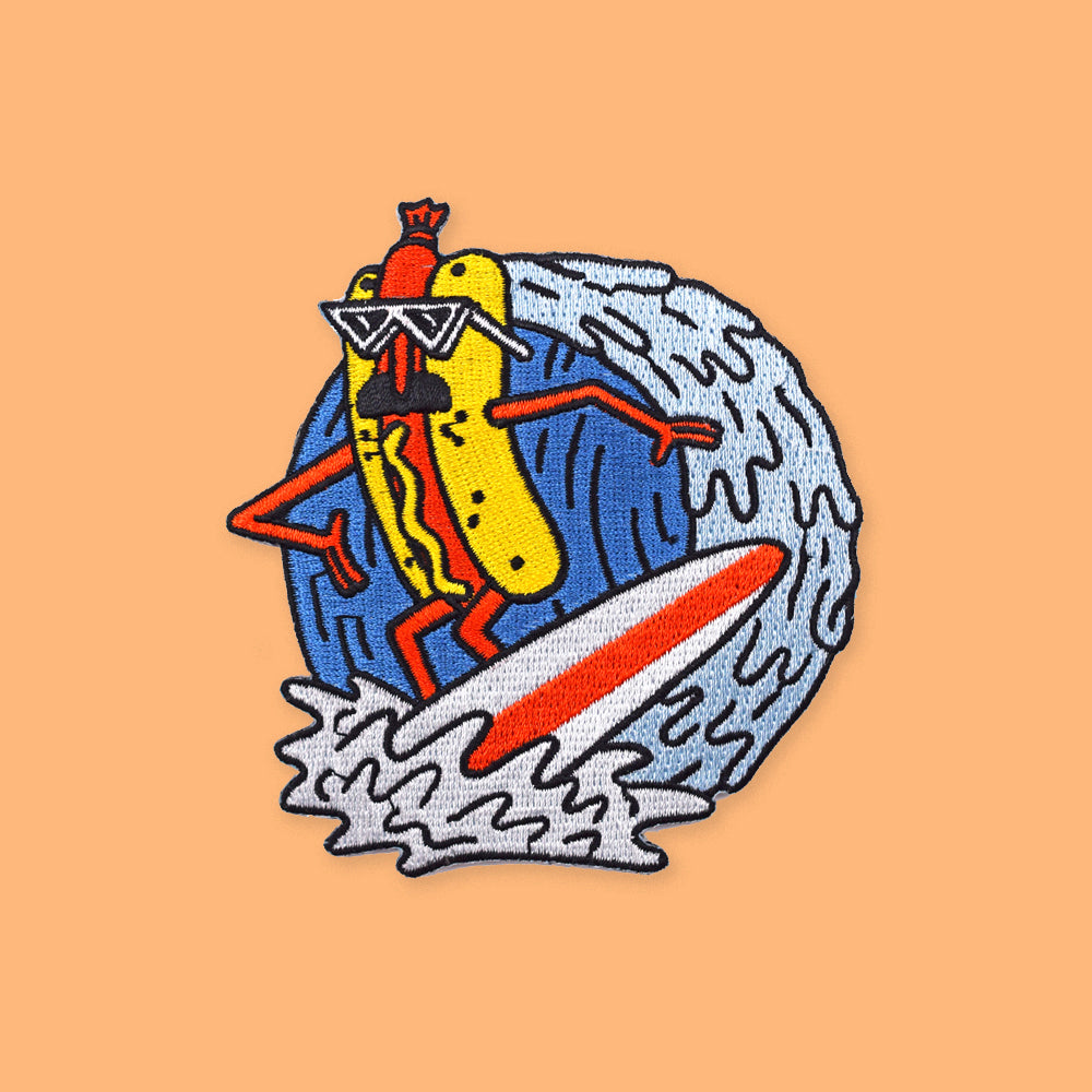 Hot Dog Surfer Patch by Luke Pelletier