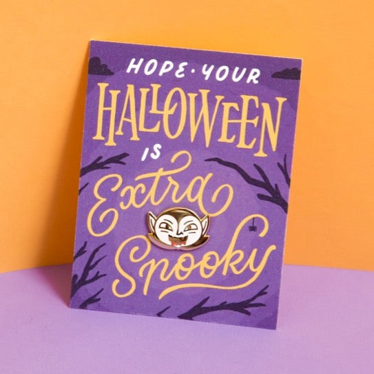 Spooky Halloween Pin and Card