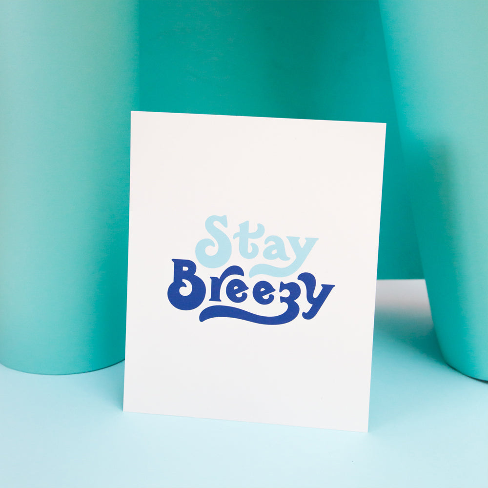 Stay Breezy Art Print by Matthew Wong