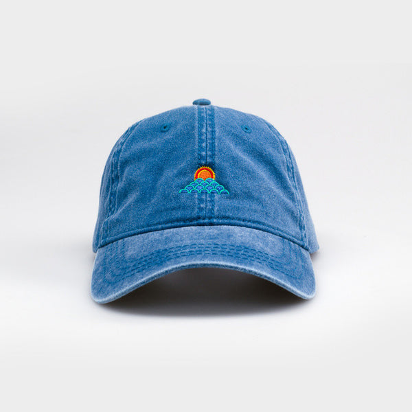 Sunset Waves Dad Hat by Ted Feighan x Society6