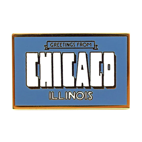 Chicago Postcard Pin