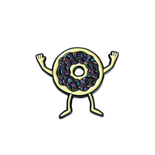 Donuts Pin by Gangster Doodles