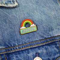Groovy Rainbow Pin by Nicole Daddona