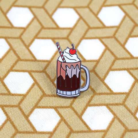 Root Beer Float Pin by Abby Galloway