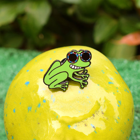 French Frog Pin by Tiffany Cooper