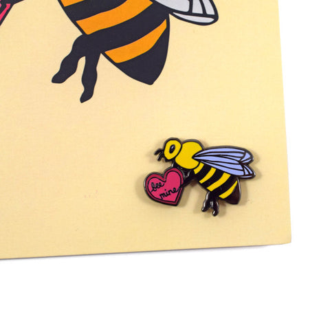 Bee Mine Card and Pin by Abby Galloway