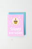Happy Birthday Cupcake Enamel Pin Card