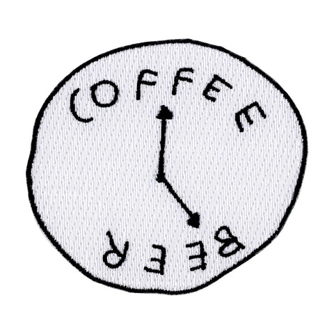 Coffee Beer Clock Patch by Katy Kosman