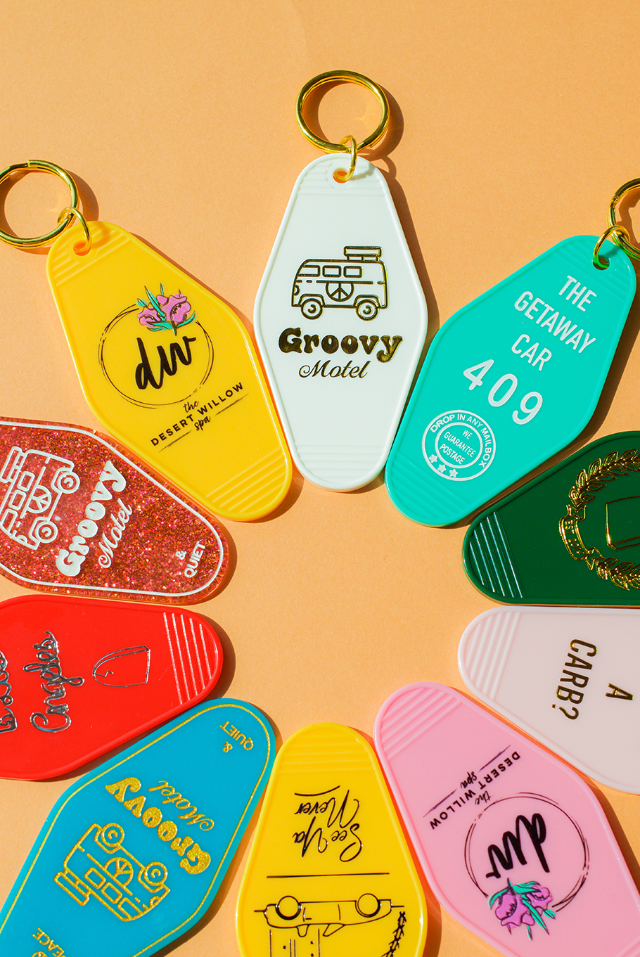 Custom Motel Keychains