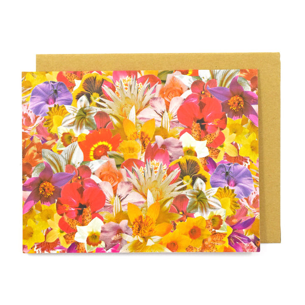Flower Bouquet Greeting Card by Ted Feighan