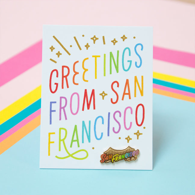 Greetings from san francisco card and pin valley cruise press greetings from san francisco card and pin productsgreetingsfomrsfcardg m4hsunfo