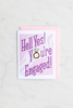 Hell Yes! You're Engaged! Enamel Pin Card