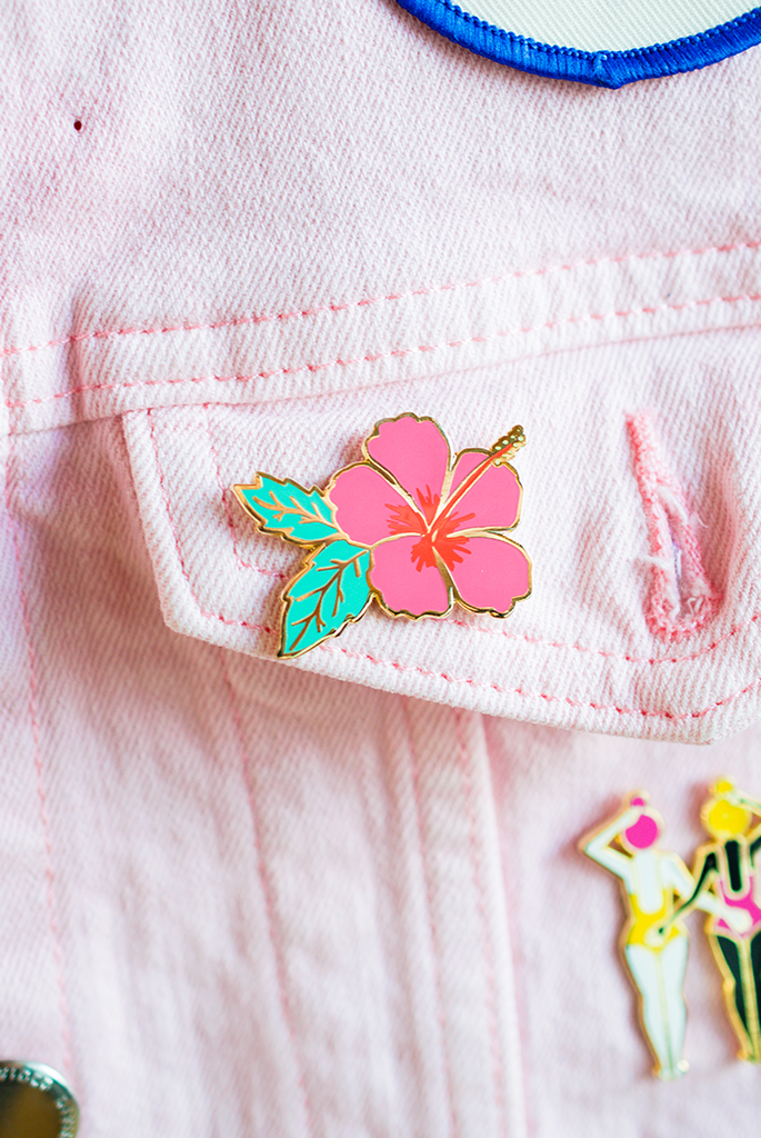 Hibiscus Flower Pin