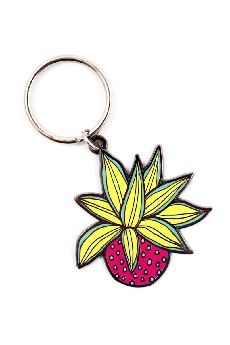 House Plants Keychain by Abby Galloway