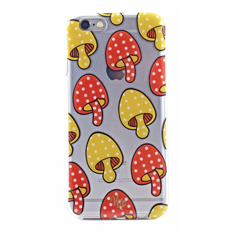 Retro Shrooms iPhone Case