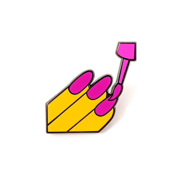 Nail Polish Emoji Pin