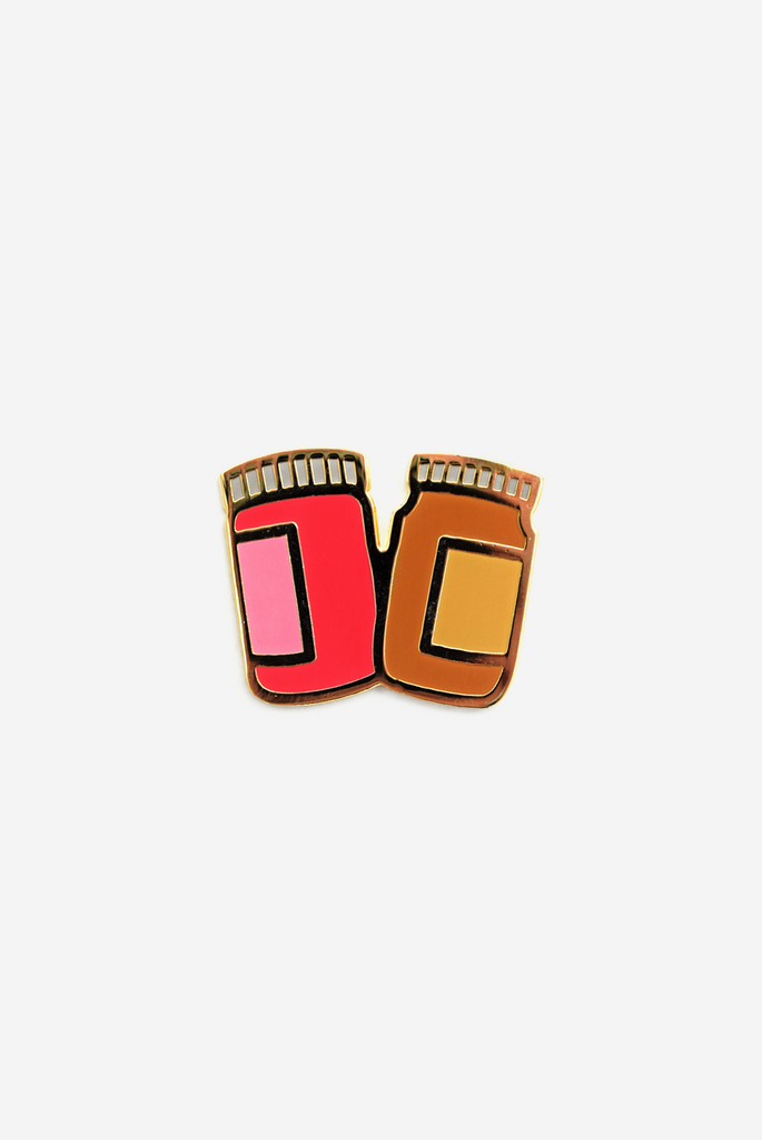 Peanut Butter to My Jelly Enamel Pin Card
