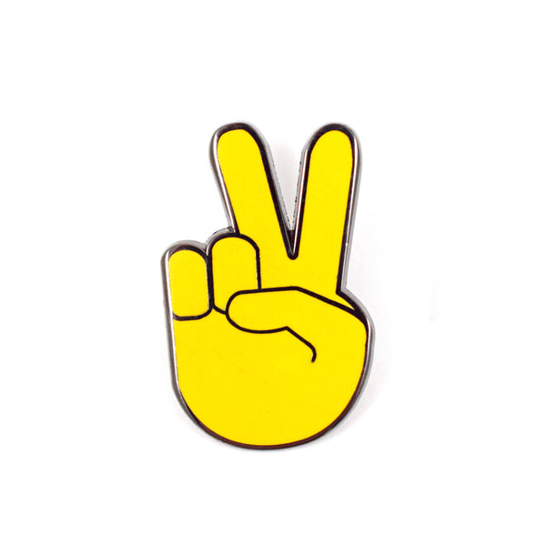 Peace Sign Emoji Pin
