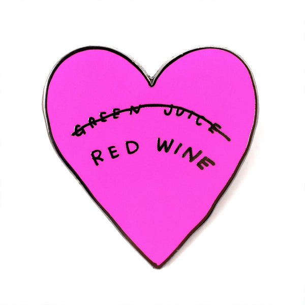 Red Wine Heart Pin by Katy Kosman