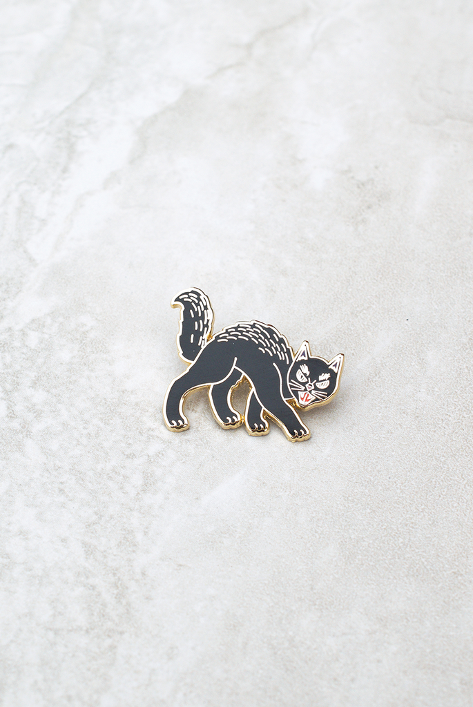 Retro Black Cat Pin