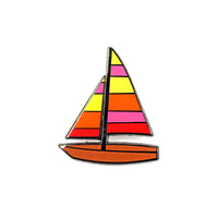 Sailboat Emoji Pin