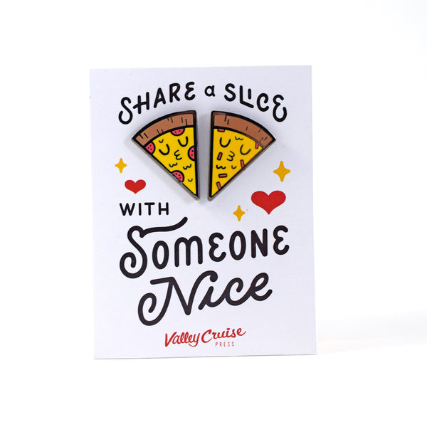 Share a Slice with Someone Nice Pin Set by Matthew Wong ...