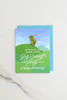 Short Arms Birthday Enamel Pin Card