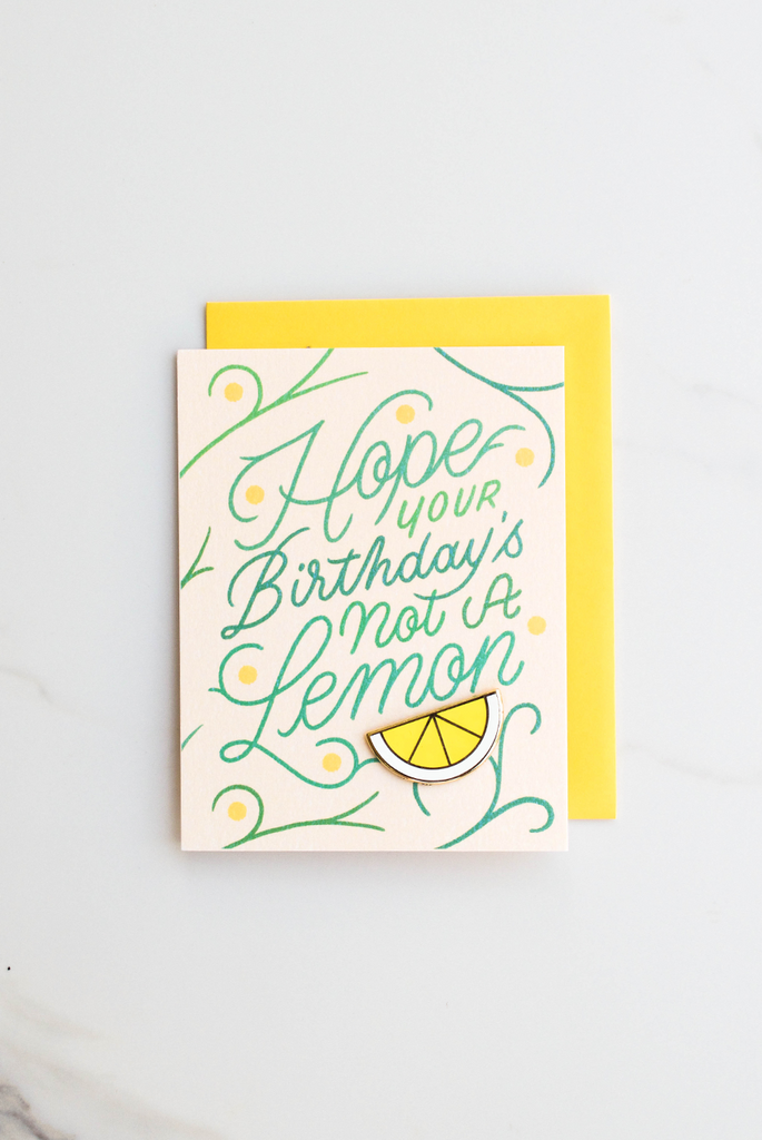Sour Birthday Enamel Pin Card