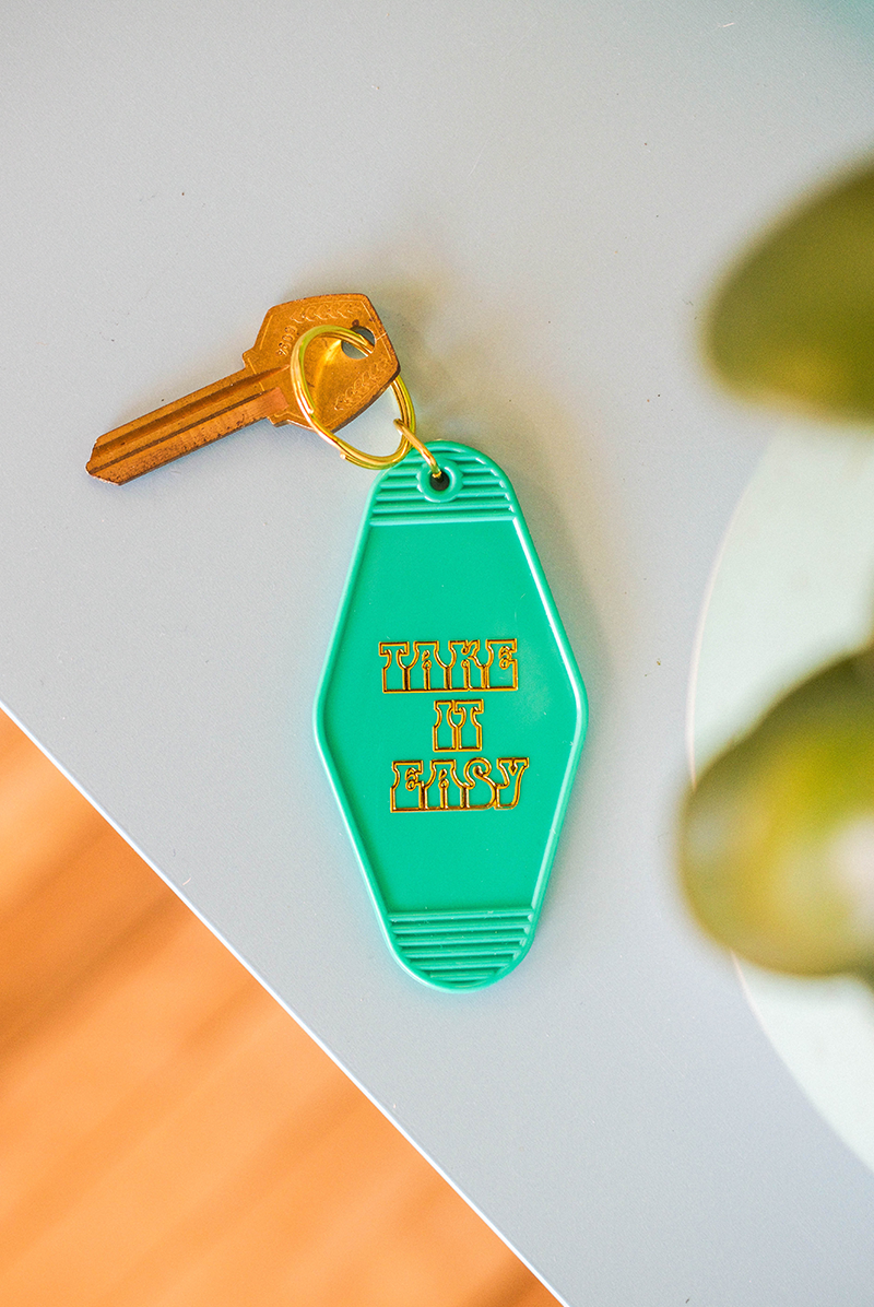 Take It Easy Motel Keychain